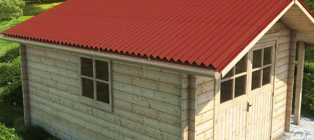 Onduline Base Red Shed