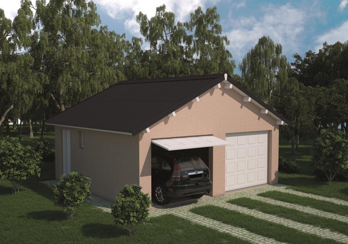 Garaža sa crnim Easyfix pločama