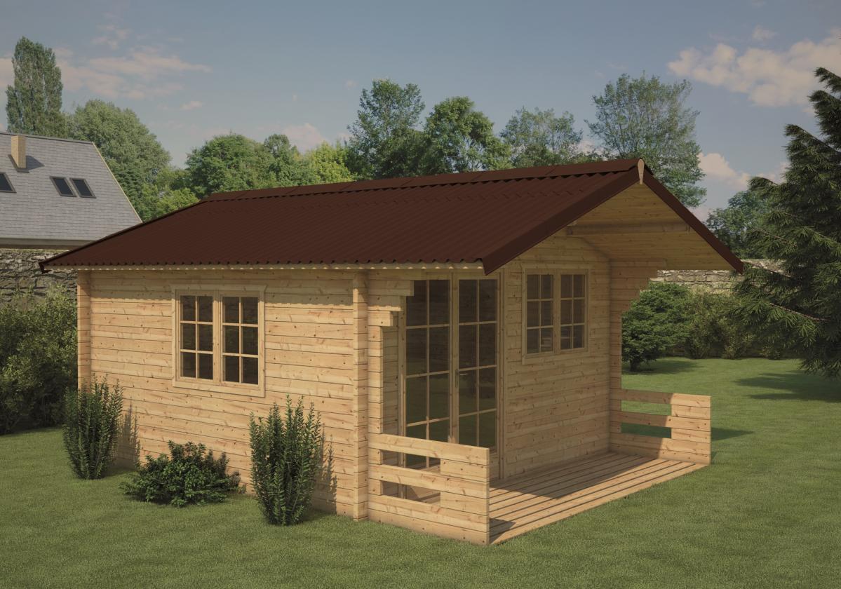 Drvena kućica sa braon Easyfix pločama