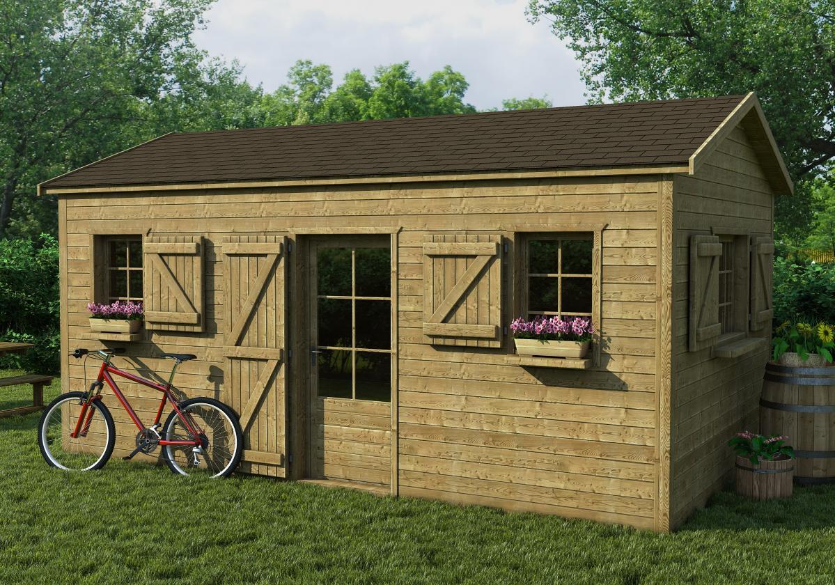 Drvena kućica sa braon šindrom Bardoline Top